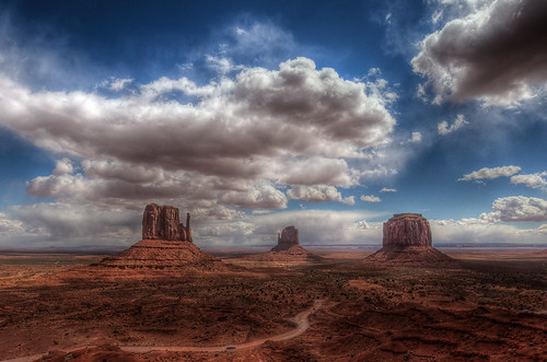 Elevation Of West And East Mitten Buttes Arizona Usa
