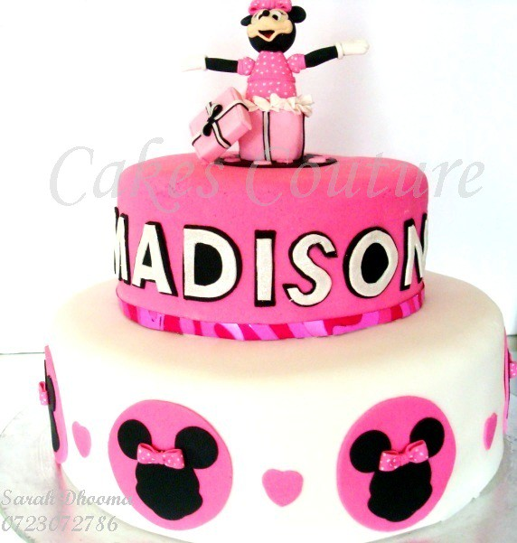 Fantastic Minnie Mouse Cake Minnie Mouse Cake For Little Madison Wi Flickr Personalised Birthday Cards Cominlily Jamesorg
