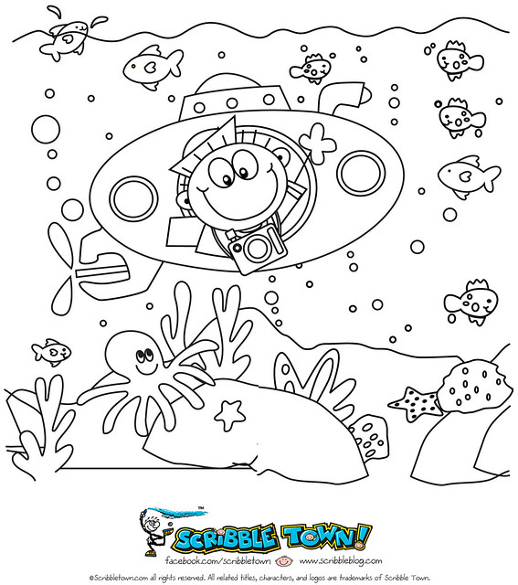 lake underwater coloring pages - photo#27