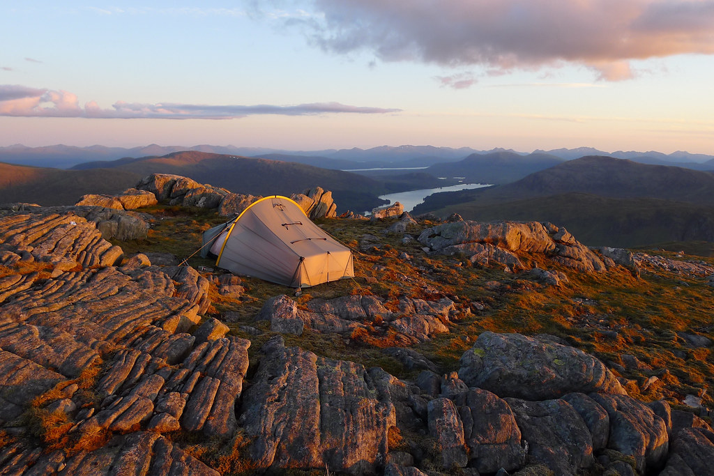 Wild camping above Loch Ossian