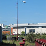 Leith docks, lighting column at Alexandra dry dock hydraulic station