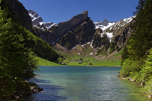 mountain lake canon geotagged switzerland view appenzell säntis alpstein saentis wasserauen seealpsee canoneos7d