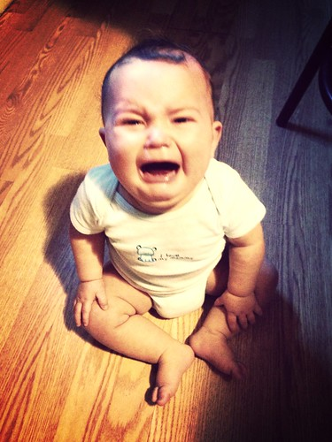 Baby boy crying sad mad / Alice Keeler, via Flickr