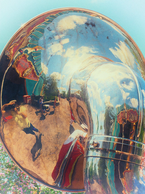 Self Portrait in Tuba Reflection