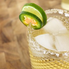 Margarita with Jalapeno Simple Syrup
