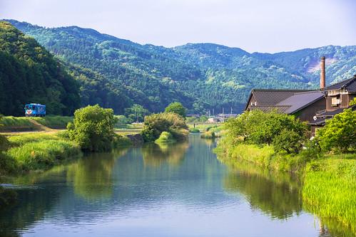 railroad japan train canon landscape railway 福岡 鉄道 ローカル線 平成筑豊鉄道