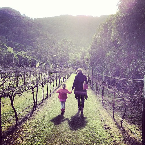 2 parts of my 3 favourite girls. Walking through vines. #vineyard #vinology