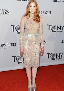 Jessica Chastain Sheer Dress Celebrity Style Women's Fashion