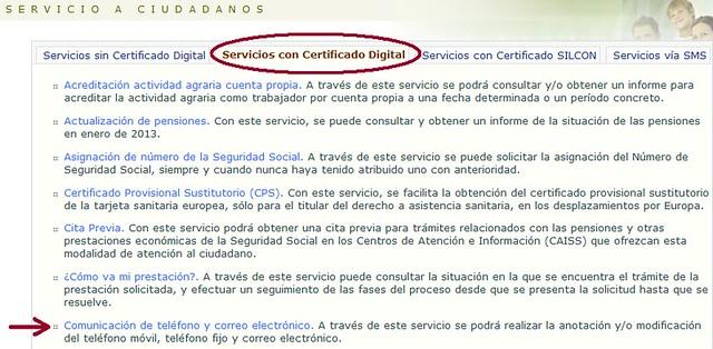 Ciudadanos - Servicios con certificado digital