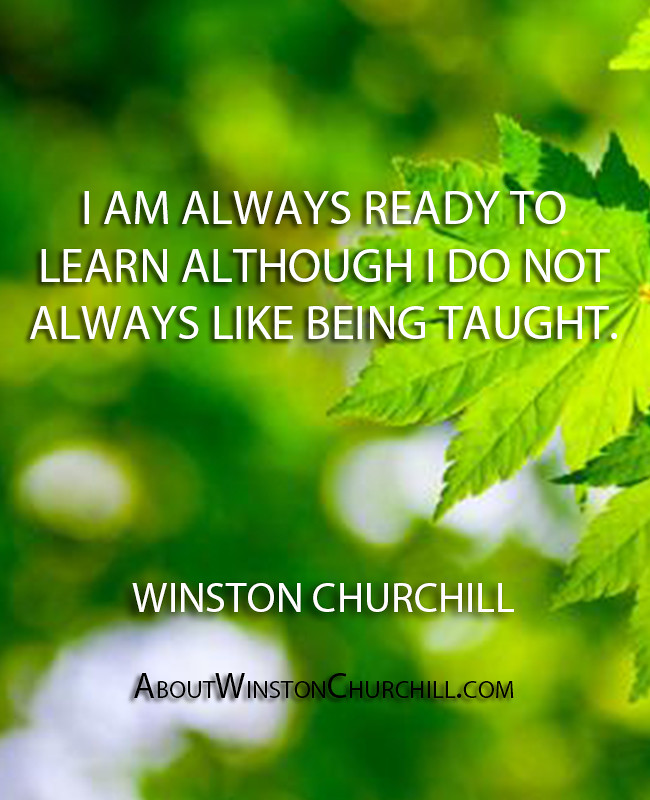 Winston Churchill | Daily Quotes