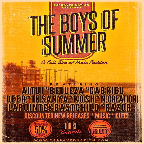 The Boys of Summer Official Flier by Kara 2