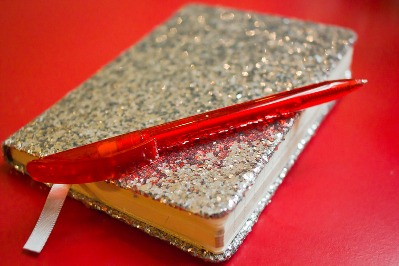 Thursday, July 11: A sparkly notebook full of my most crazy emotions. :/