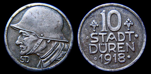 1918 stadt duren iron token