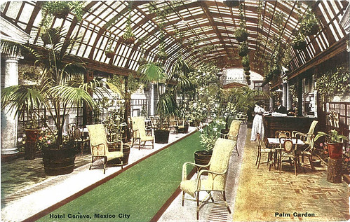 Palm Garden, Hotel Geneve, Mexico City by Yekkes