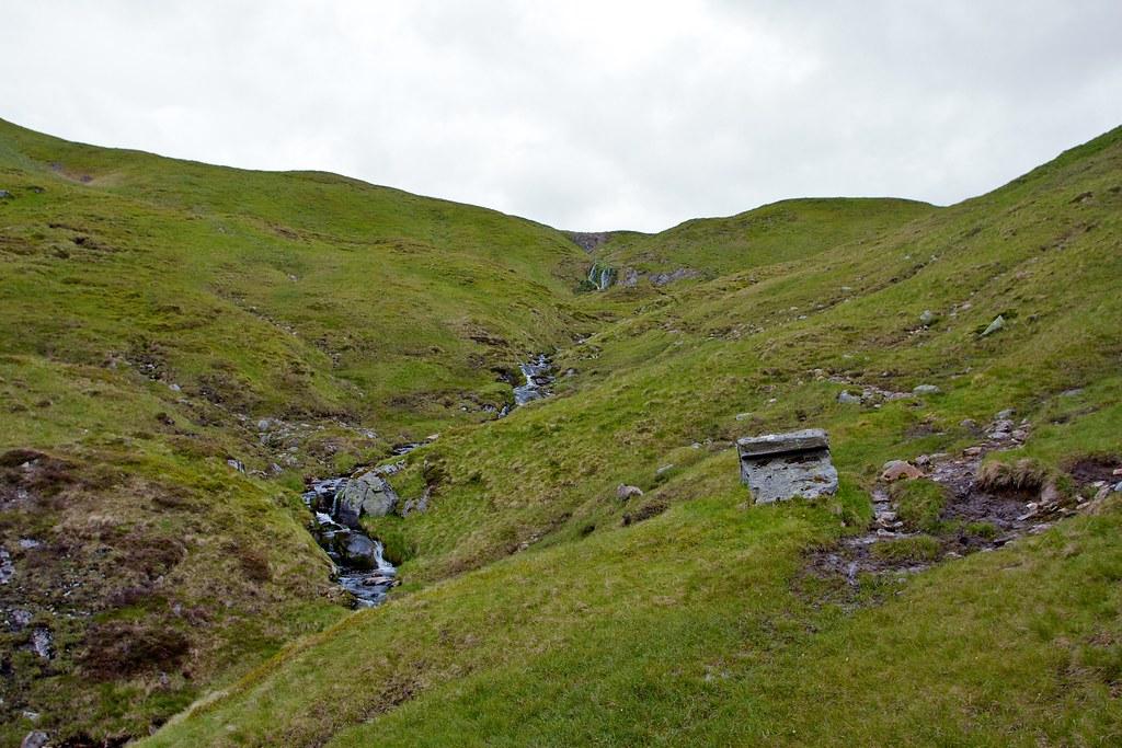 Falls in upper Gleann Taitneach