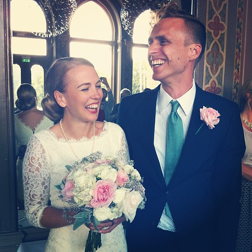 Det glada brudparet @thisishelena  @waern!