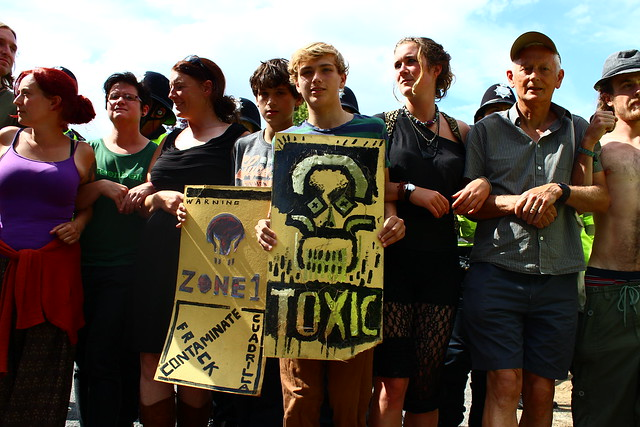 2013 fracking protest in Balcombe