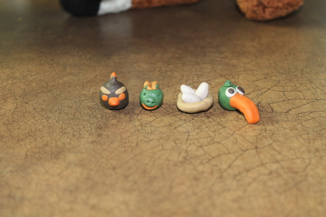 Angry Bird's the kids made out of clay