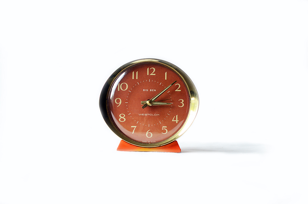 Vintage Orange Mechanical Clock