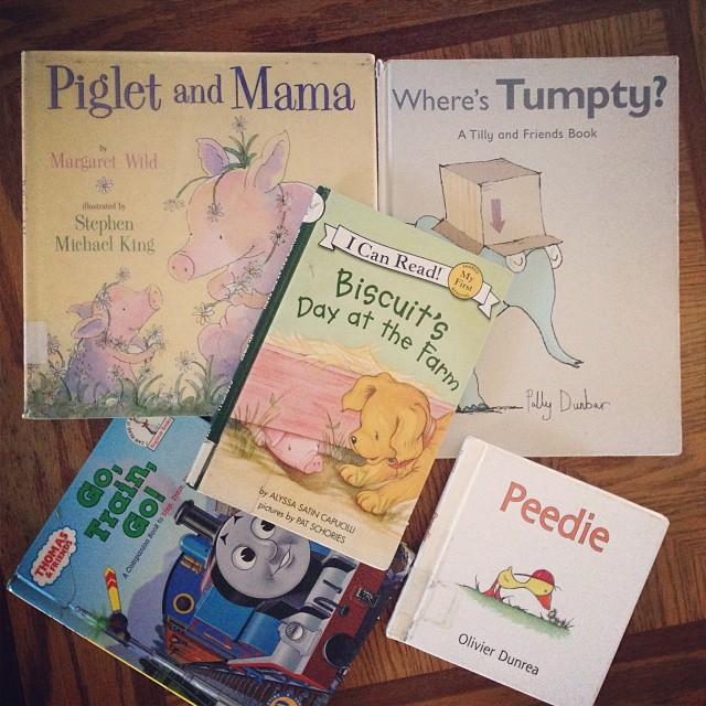 Eli's favorite books from the Library :)