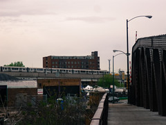 Metra train over Canal Street