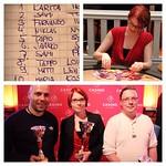 Tänään pelattiin Casino Helsingin henkilökunnan pokeriturnaus. Jaossa oli runsaasti mainetta ja kunniaa 72 pelaajan kesken. Voittajaksi selvisi Karita, Sami oli 2. ja Fernando 3. Onnittelut parhaille ja kiitos kaikille mukana olleille! #casinohelsinki #ca