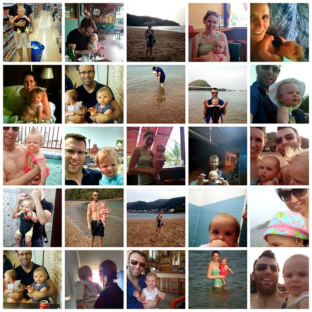 Holding babies in Panama collage