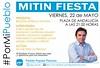 Mitin PP elecciones municipales Porcuna