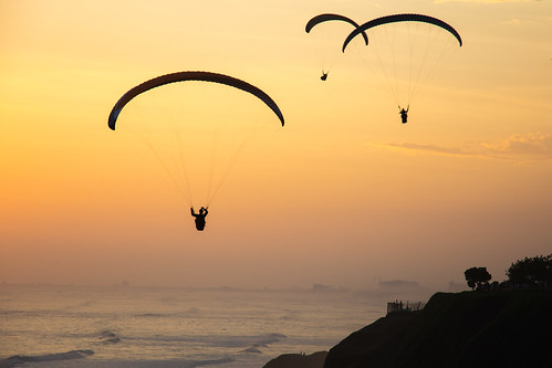 sunset sky atardecer evening sundown lima outdoor dusk perú paragliding miraflores parapente