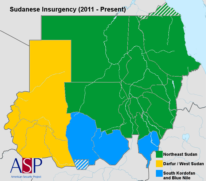Sudanese Insurgency Map