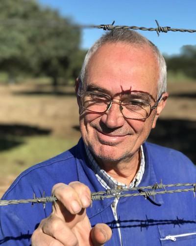Juan Moreno Garcia, the man behind this specific #dehesa - #pedroches #ibericodebellota #montanera #spain #travelwithdoc