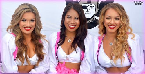 2016 Oakland Raiderettes Morgan, Amanda & Angel