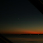 The planet Venus over the Mumbles