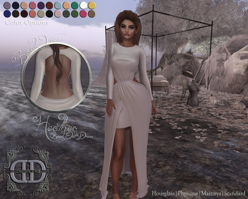 Heather Backout Dress Fatpack - SecondLifeHub.com