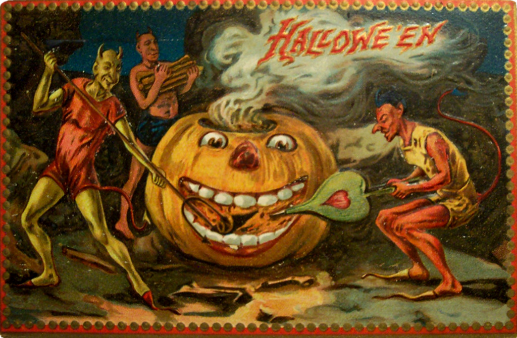 Vintage Halloween Postcard. Credit Dave, flickr
