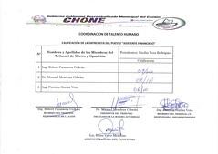 Calificaciones de entrevistas, para el puesto de Asistente Financiero