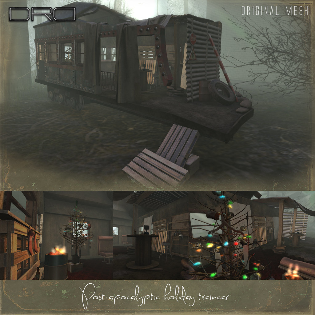 DRD Post apocalyptic holiday traincar - SecondLifeHub.com