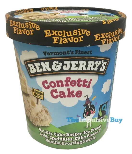 Fantastic Review Ben Jerrys Limited Batch Confetti Cake Ice Cream The Personalised Birthday Cards Veneteletsinfo