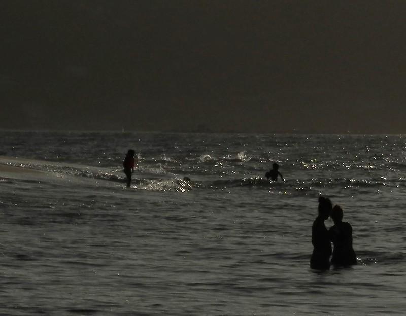 Figuras del mar a contraluz