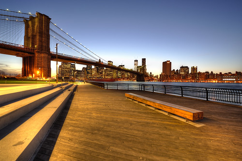 Brooklyn Bridge just after Sunset