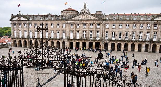 Plaza del Obradoiro, Santiago de Compostela, Galicia.