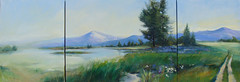 In the moment by Nancy Lewis 88'x30' oil on canvas. painted for Inspired to Heal art submittal.