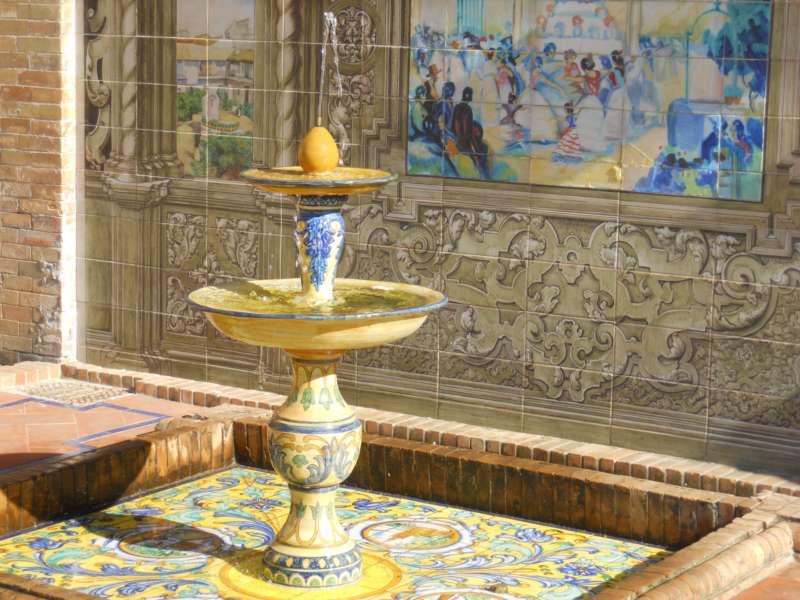 Fuente decorativa Pza. España Sevilla 3