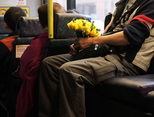 """yellow roses"" (on the bus) by hugo poon hp"