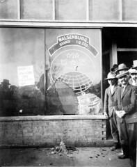 Walsenburg IWW Hall, post-raid, Walsenburg, Colorado, January 12, 1928.