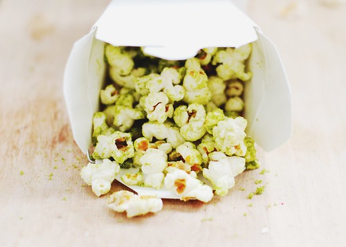 matcha sugar popcorn.