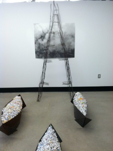 LTU exhibit space.  Work by Steve Rost