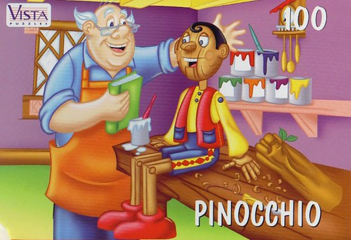 "VISTA PUZZLES :: ""PINOCCHIO"" - 100 Piece Jigsaw Puzzle { Art by Lavigne & Brown } (( 199x ))"