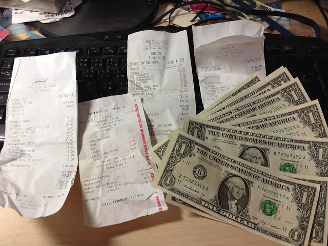 How to tip, receipts and bills