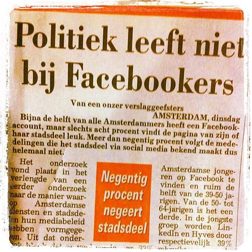 Politiek leeft niet bij Facebookers
